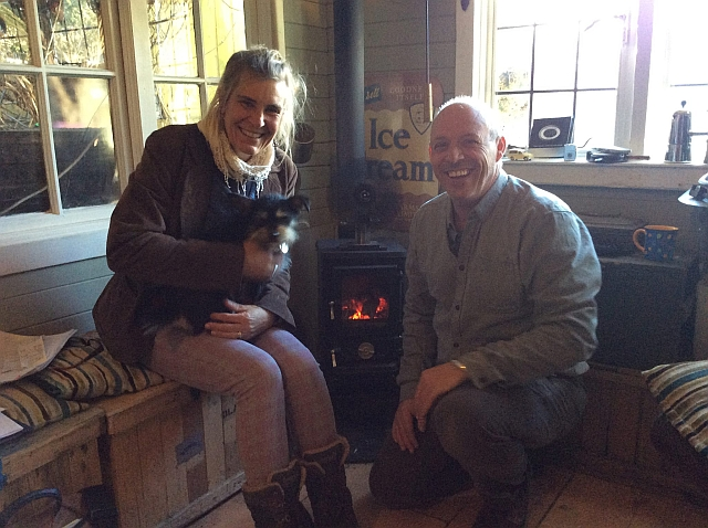 Mark and Gill at Salamander Stoves