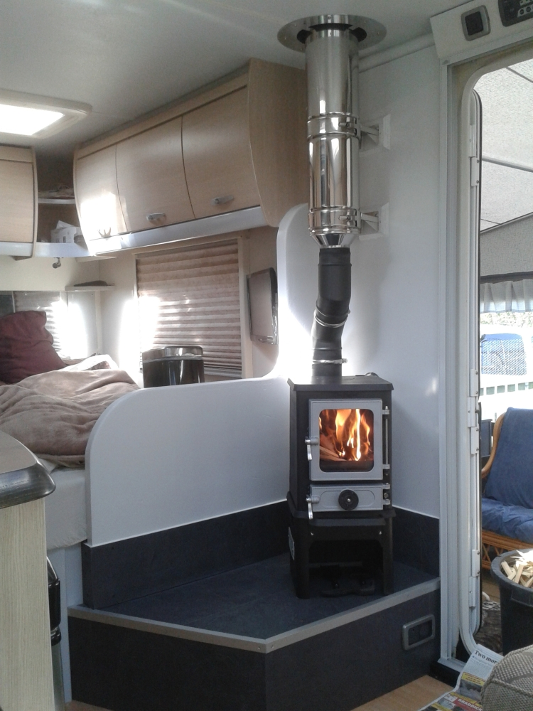 Small stoves shepherds Huts 09 · 01 Hobbit installed in a modern caravan - The Hobbit, Small Multi Fuel Cast Iron Stove