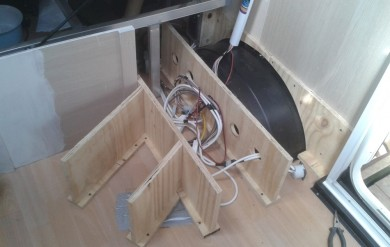 03 Framework to cover original wiring and wheelarch