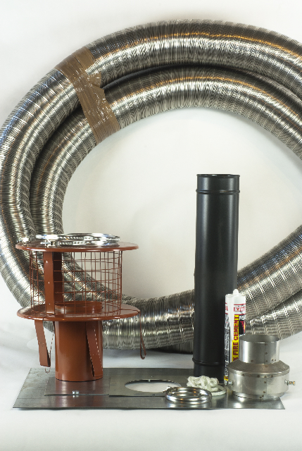 Small stove chimney lining kit