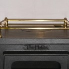 small stove options - hobbit stove with brass gallery rail