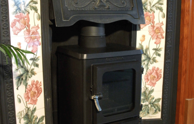 Small Woodburning Stove 14 efit hood hobbit stove
