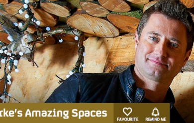 George Clarke's amazing spaces programme uses a Hobbit stove for their woodland retreat