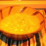 Cooking potato and leek soup on the hobbit stove