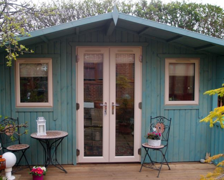 garden office stove installation - The She Shed - The Small Space Of Your Own