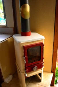 installing a stove in a caravan