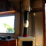 installing a wood stove in a small space such as a caravan
