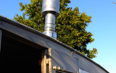 how to install a wood burning stove in a caravan