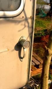 installing a stove in a caravan