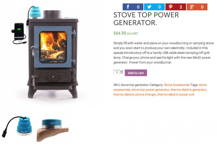 stove top power generator