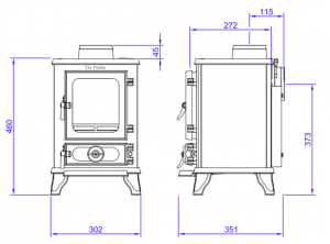small stove dimensions