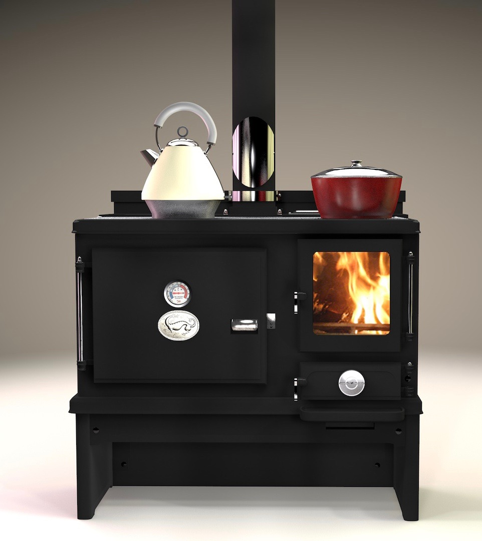 Kitchen Stoves: New Small Wood Cook Stove From Salamander Stoves