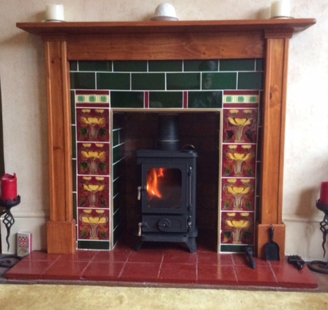 Testimonial Salamander Tiny Stove in a Small Fireplace