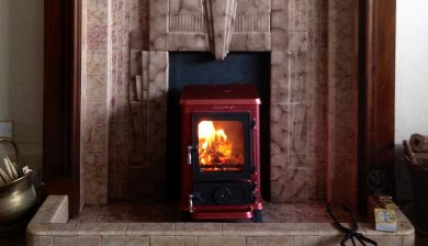 small fireplace with tiny stove testimonial