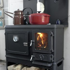 tiny wood cookstove