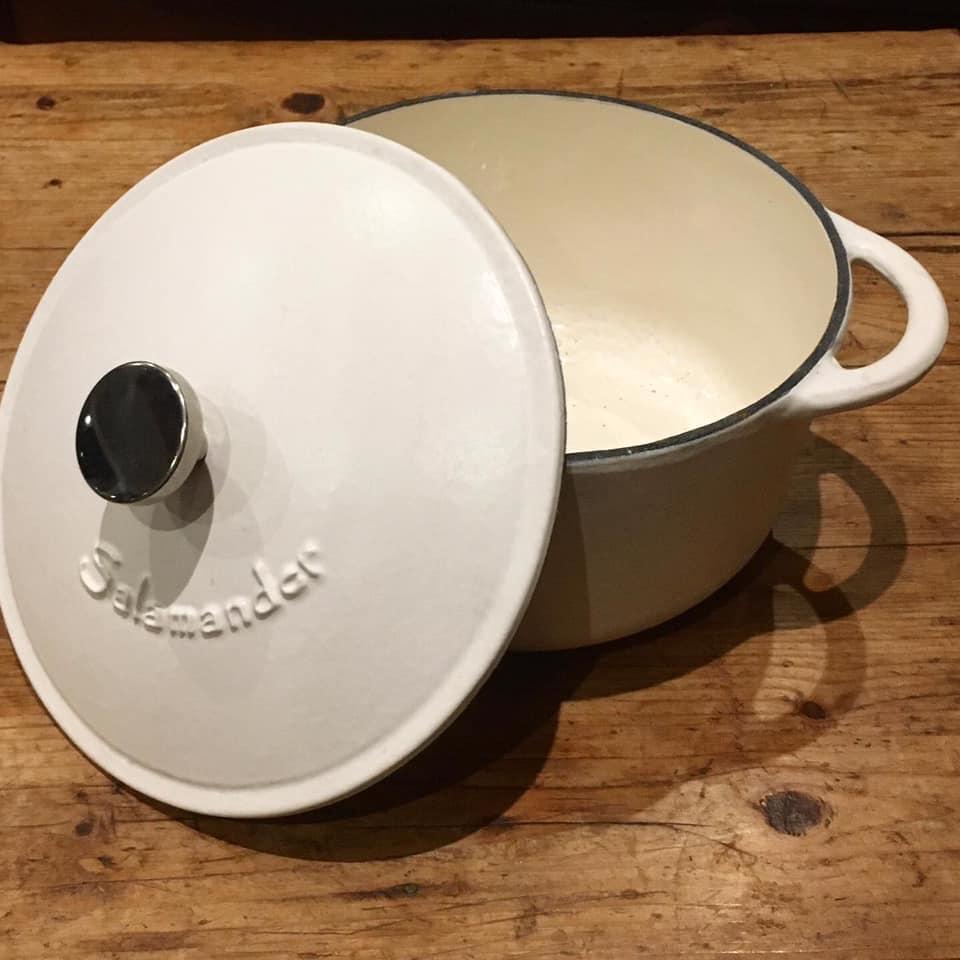 White Cast Iron Cookware Set