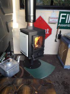 tiny stove in a van