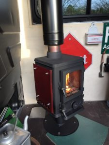 tiny wood stove for a van