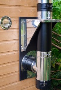 small stove wall exit flue kit