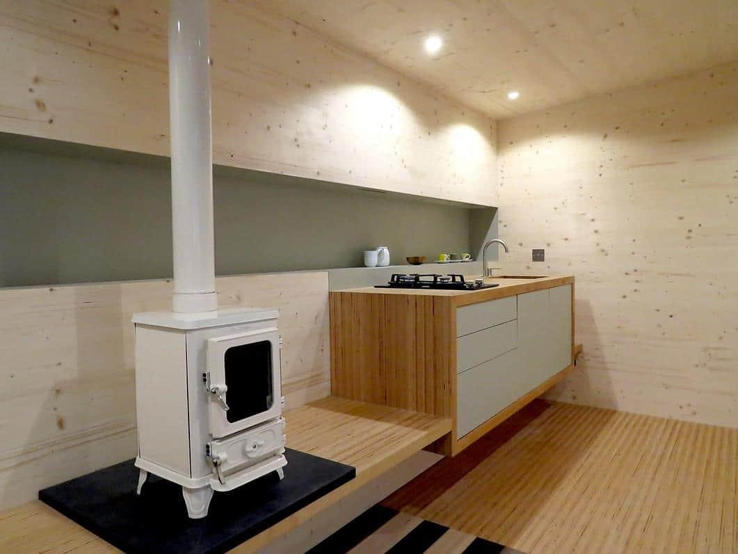 Small Stove in a Eco Cabin