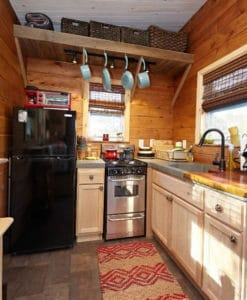 Small Stove Installed in a Mobile Home Kitchen