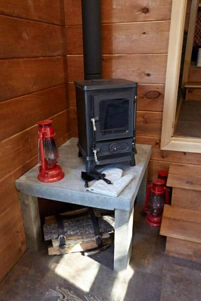 Small Stove Installed in a Mobile Home