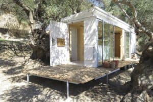 Small Stove in an Off-Grid Yoga Retreat