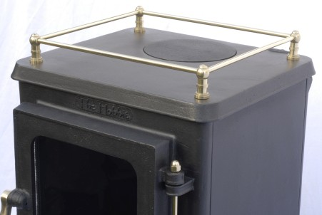 small stove options - hobbit stove with brass gallery rail||small stove options - hobbit stove with brass gallery rail|small stove options - hobbit stove with brass gallery rail|small stove options - hobbit stove with brass gallery rail and stand|
