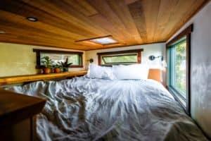 Small Stove Tiny Home Bedroom