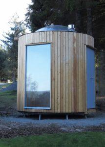 Small Wood Burner in a Stargazing Hut