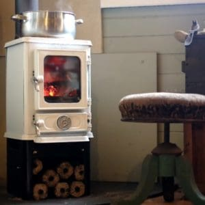 cooking on a small wood burner