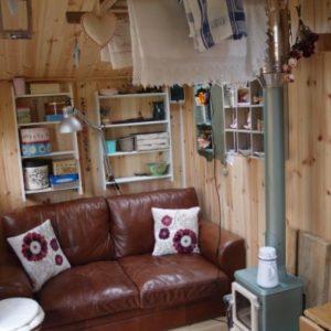 garden office small stove installation