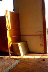 installing a wood stove in a caravan