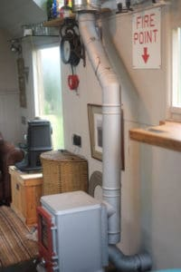tiny home flue kit for installing a stove in a tiny home