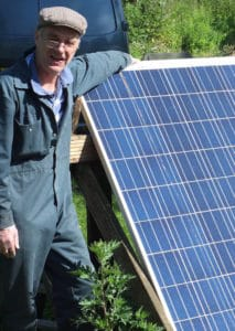 off grid solar powered permaculture cabin