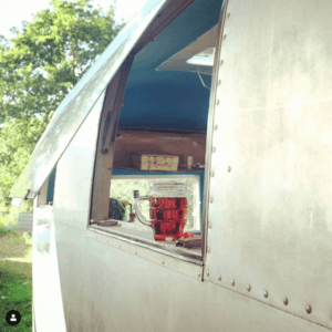 Small Stove Installed in an Airstream