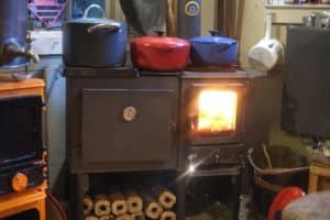 small wood cookstove