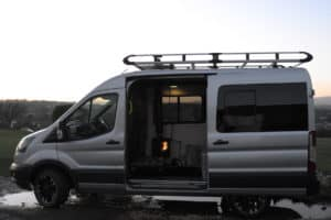 installing a small stove in a van