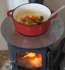woodstove cooking