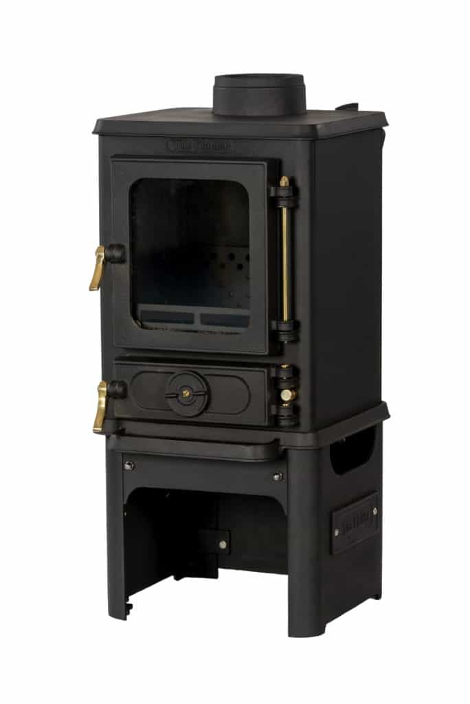 Hobbit Small Stove and Stand With Brass Fittings