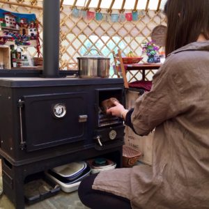 Refuelling The Little Range Cook Stove