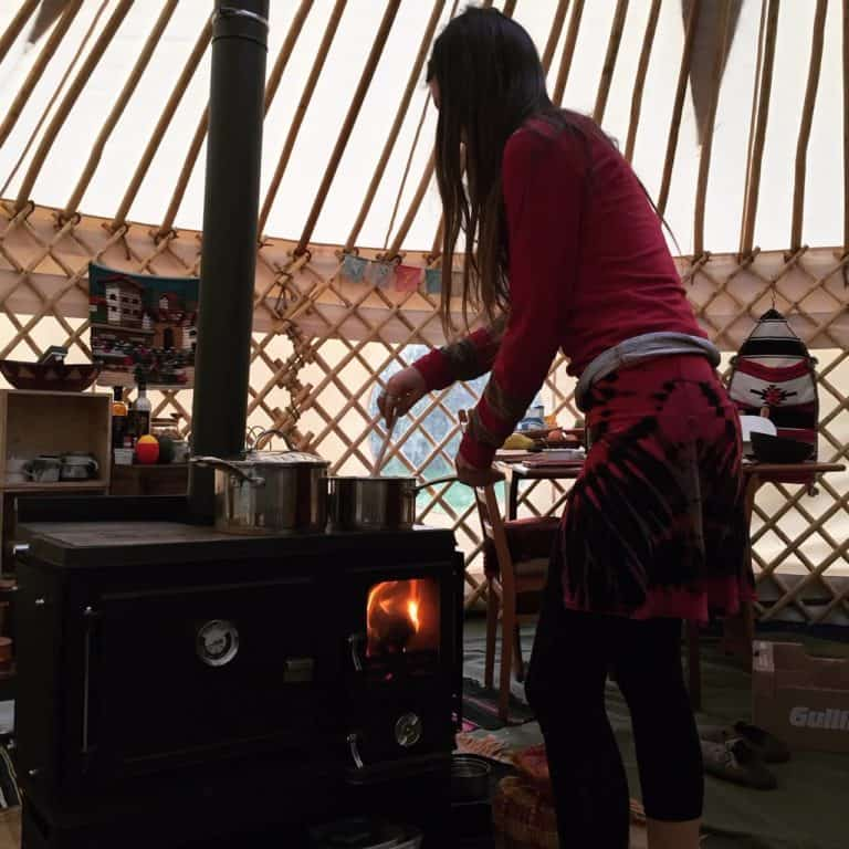 Cooking on The Little Range Cook Stove