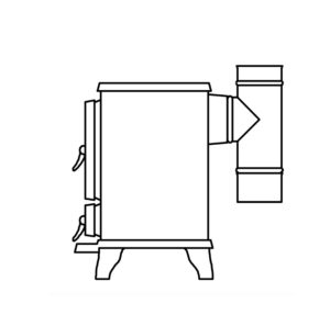 Small Stove Rear Exit Kit