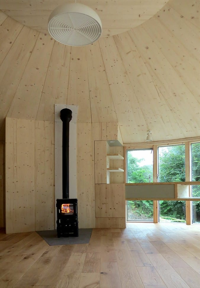 Small Stove Installed in a Yurt