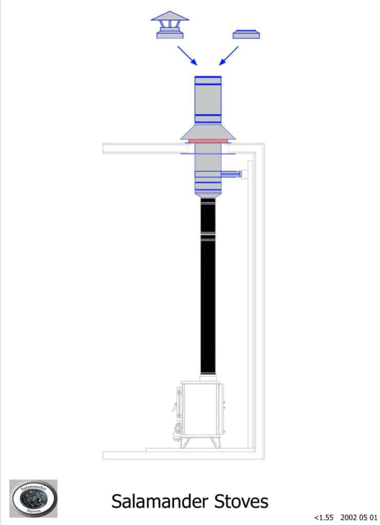 Van or RV Flue Kit 1