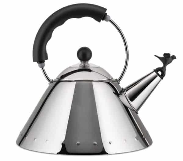 Alessi Small Stovetop Kettle Little Bird 9093 Black