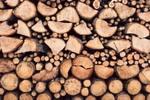 burning dry wood in small wood burning stoves
