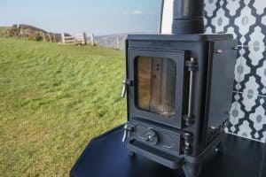 Small Wood Burning Stove In a Campervan 3