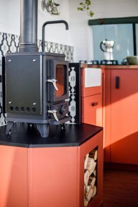 Small Wood Burning Stove In a Campervan 4