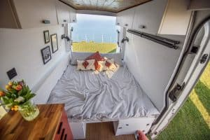 Small Wood Burning Stove In a Campervan 8